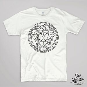 VEGETA VERSACE T SHIRT DRAGON BALL TUMBLR MANGA GOKU GEEK TOP GOHAN ... 48fe388db48