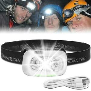 Waterproof-USB-Rechargeable-LED-Headlight-Head-Lamp-Torch-Outdoor-Flashlight