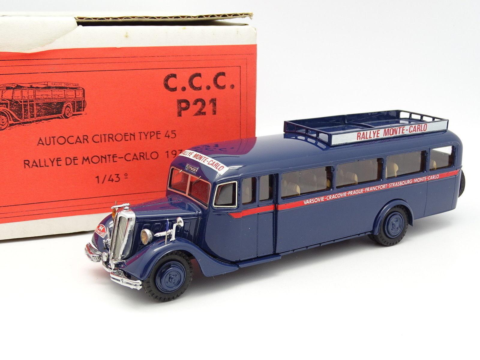 CCC 1 43 - Car Autocar Citroen Type 45 Rallye Monte Carlo 1934