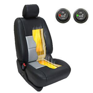 Carbon Fiber Round Switch Universal Heated Seat Heater Kit Car ...