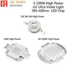 1pcs 3w 5w 10w 20w 30w 50w 100w Uv Violet 395 400nm High Power Led Chip Light