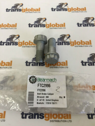 Land Rover Discovery 2 /& Range Rover P38 Front Brake Caliper Bolts x2 FTC2996