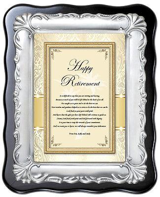 Silver Plaque Farewell Employee