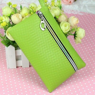 HOT! Multicolor Lady PU Purse Wristlet Zip Wallet Coin Phone Key Case Makeup Bag