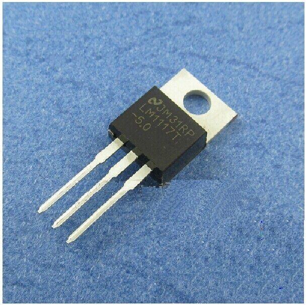 5PCS LM1117T LM1117T-5.0 NSC IC REG LDO 5.0V 0.8A TO220 NEW