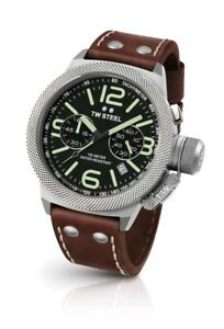 TW-Steel-Men-039-s-Canteen-TWCS23-Chronograph-Strap-Watch-Brand-New-037