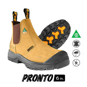 DuraDrive-Men-039-s-CSA-PRONTO-6-in-Wheat-Nubuck-Metal-Free-Waterproof-Work-Boots