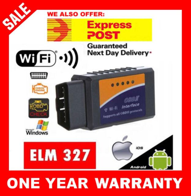 ELM327 OBDII OBD2 WiFi Car Engine Diagnostic Code Reader Scan iPhone Android