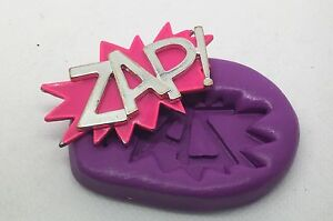 Silicone-mould-Zap-word-cupcake-Topper-comic-super-hero-decorating-tools