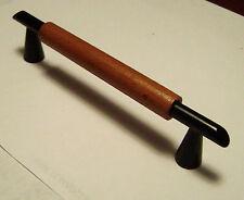 10 Cabinet DOOR & DRAWER PULL 's / Knobs / handles ... matte black & wood  NEW