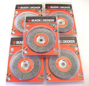 5 Black Amp Decker 4 Quot Steel Wire Wheels Coarse 70 611 For