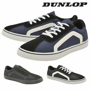 Dunlop-Mens-Lace-Up-Trainers-Flat-Skate-Plimsoll-Shoes-Memory-Foam-Sizes-7-12