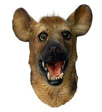 Hyena Mask Wild Animal Dog Overhead Latex Zoo Fancy Dress Party Halloween Wolf