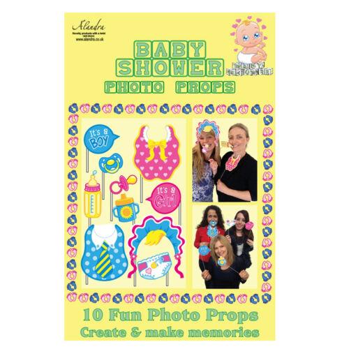 """10 pcs fête photo /""""baby shower/"""" Carénage tétine bébé photo booth props set"""