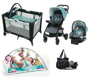 Baby Boy Combo Set Infant Stroller Car Seat Activity Gym Playard