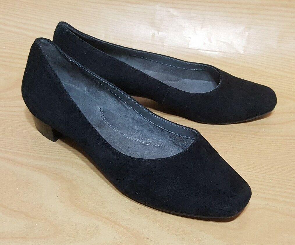 Aerosoles Womens Black Suede Leather Womens Pumps Shoes Size 7