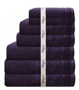 7PCE-575GSM-EGYPTIAN-COTTON-TOWEL-SET-2x-BATH-HAND-FACE-TOWELS-1xMAT-PURPLE