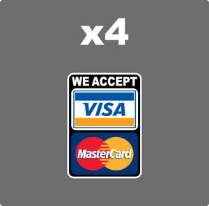 MasterCard Visa We Accept Credit Cards Sticker Decal