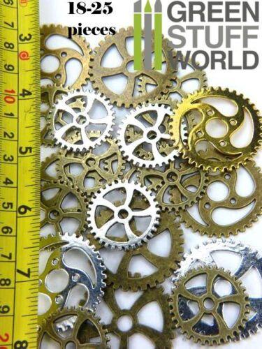 Schmuck Halskette Perlen Steampunk-Sets /& SPIRAL-Zahnräder XL Bastler 85 gr