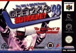 N64/Nintendo 64-Wayne Gretzky's 3d hockey 98 con embalaje original OVP dañado