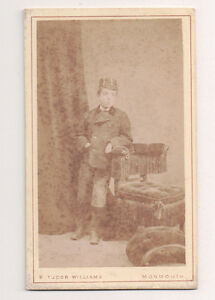 Vintage-CDV-Willie-Son-of-Marcia-Gabb-amp-Charles-P-Lewis-Williams-Photo-Monmouth