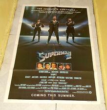 original SUPERMAN II advance teaser one-sheet poster Christopher Reeve