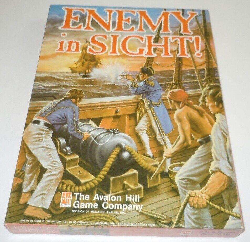 comprar barato Enemigo a la vista de juego de mesa mesa mesa COMPLETO Avalon Hill Librero 1988 Tarjeta de barco de vela  Compra calidad 100% autentica