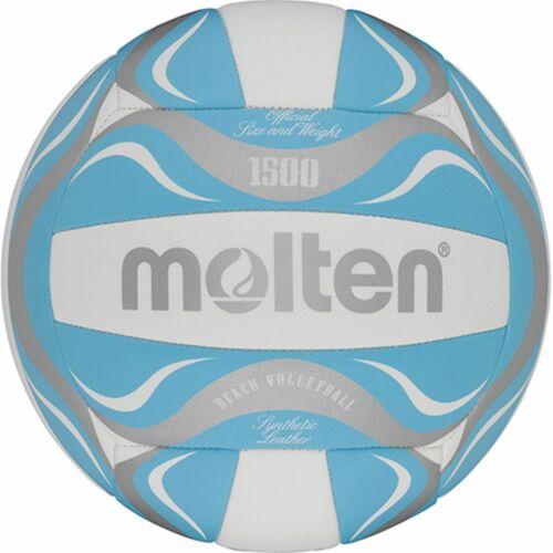 Molten Beachvolleyball BV1500-LB Freizeitball blau weiß silber Gr 5