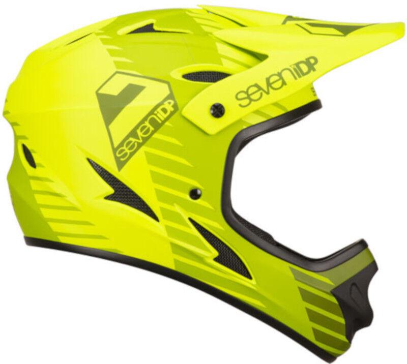 Seven 7iDP M1 MTB Bike Helmet Tactic Lime Mid Olive Green