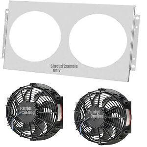 chevy camaro aluminum radiator fan shroud dual 12 fans. Black Bedroom Furniture Sets. Home Design Ideas