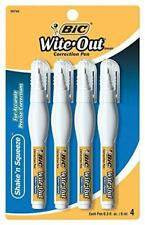 Bic Wite Out Shake N Squeeze Correction Pen 8 Ml White 4pack Wosqpp418