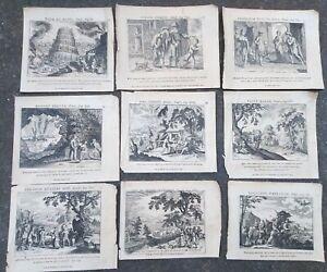 1723-LOTTO-9-INCISIONI-IN-RAME-DI-DUFLOS-ANTICO-TESTAMENTO-ABRAMO-SODOMA-BABELE