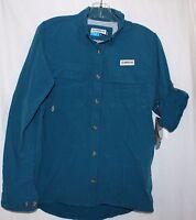Magellan Outdoors Fish Gear Women's Blue Mag Wick Vented Back Shirt Medium