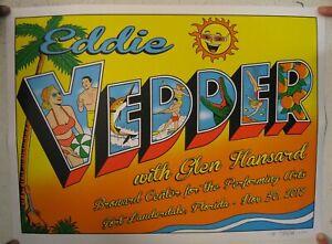 Eddie-Vedder-Of-Pearl-Jam-Poster-Silkscreen-Broward-Center-11-30-2012