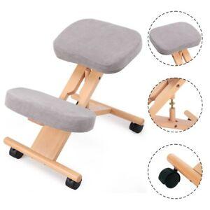 Ergonomic Orthopaedic Posture Kneeling Chair Stool Frame Seat Health Care Wooden