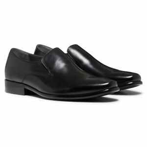 NEW MENS JULIUS MARLOW RATTLE MEN'S BLACK LEATHER SLIP ON WORK FORMAL SHOES