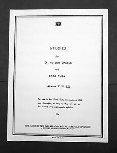 Aimable Abrsm Studies For Eb Et Bbb Basses Et Bass Tuba-grades 5, 6 & 7-afficher Le Titre D'origine