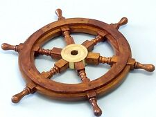 Boat Ship Vintage Steering Wheel Br Nautical Pirate Decoration Wood 15