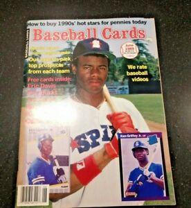 Ken-Griffey-Jr-Baseball-Cards-Magazine-June-1989-6-Uncut-Cards-Attached-Inside
