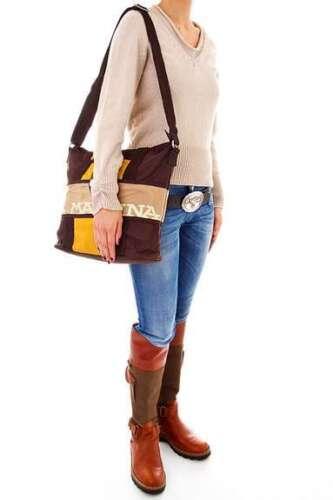 La Martina Tasche Shopper Bag Messenger Crossover Umhängetasche braun