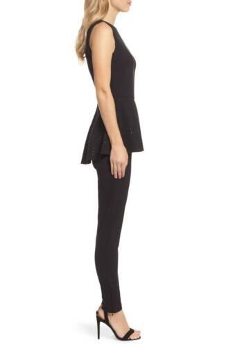 2 Beaded Peplum Black Jumpsuit Eliza In J sz 688883366668 wFq0vtPH