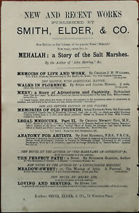 Smith-Elder-amp-Co-Waterloo-Place-Mehalah-A-Story-of-the-Salt-Marshes-Ad-1884
