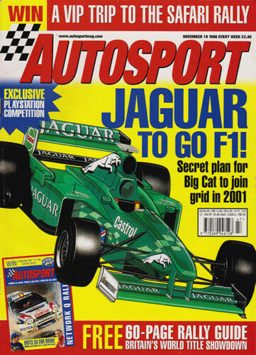 Autosport 19 Nov 1998 Jaguar, BMW turbo diesel, FIA GT, Rallying News, NASCAR