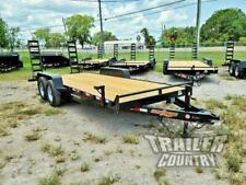 New 2021 7 X 20 14k Heavy Duty Flatbed Wood Deck Equipment Trailer With Ramps