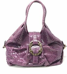 Image is loading Bvlgari-Chandra-Purple-Python-Hobo-Shoulder-Bag 81dbf60a9c5e8