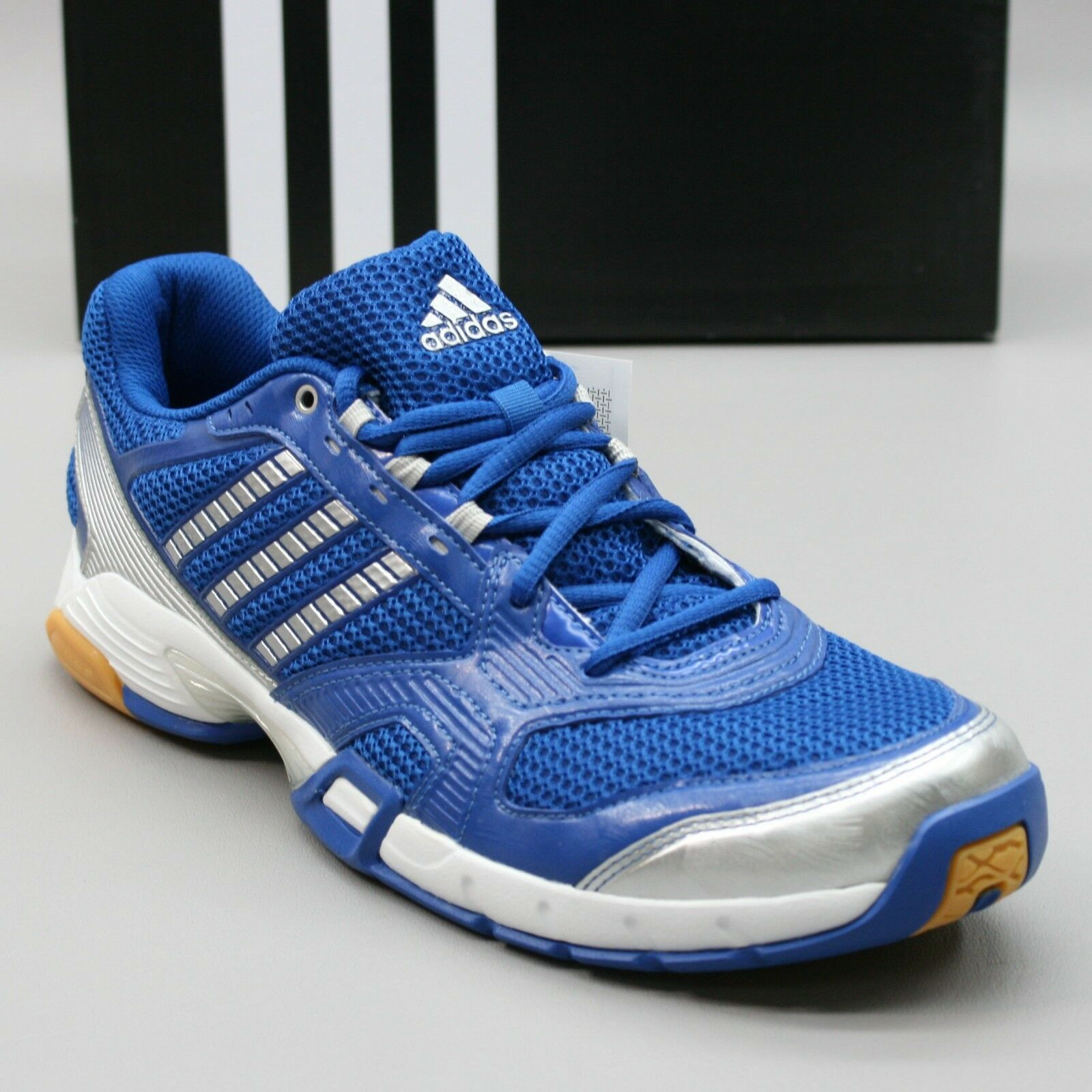 NEW Adidas Ladies 11.5 Opticourt VB 8.5 W Blue Volleyball Indoor Court Sneakers