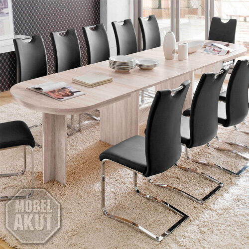 Esstisch Nancy Esszimmer Tisch ausziehbar in Sonoma Eiche sägerau 160-320x90 cm
