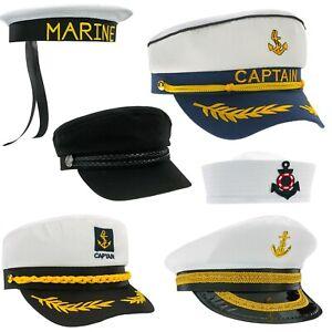 Captain-Anchor-Sailor-Hat-Navy-Fancy-Dress-Yacht-Costume-Marine-Sea-Cap-Fishing