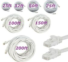 RJ45 Cat5e CAT5 Ethernet LAN Network Cable for PC PS XBox Internet Router White