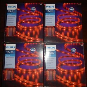 4 boxes new philips halloween led flat rope lights 15 ft indoor image is loading 4 boxes new philips halloween led flat rope aloadofball Image collections